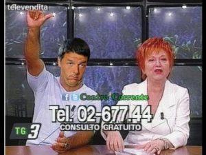 Renzi durante la televendita